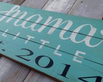 Wooden Established sign