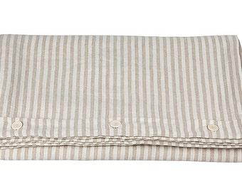 Linen DUVET COVER - striped duvet cover - linen blanket cover - queen duvet cover - striped bed linen - striped bedding