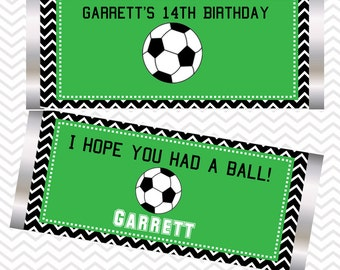 Soccer - Personalized Candy Bar Wrapper