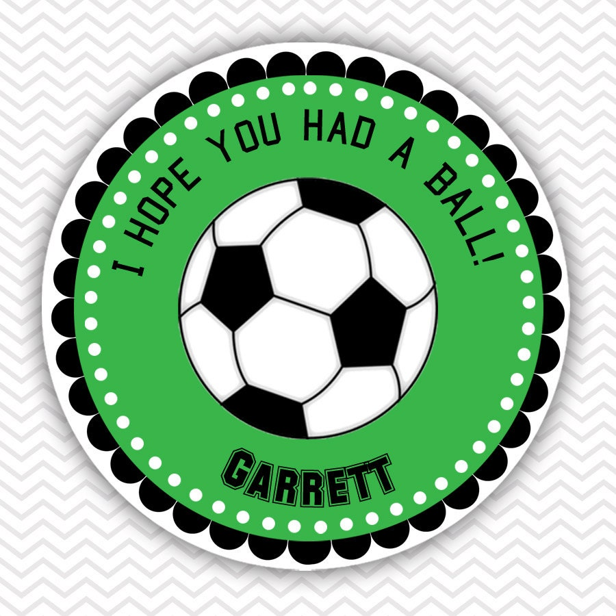 Soccer ornaments - Soccer Personalized Stickers Party Favor Tags Thank You Tags Gift Tags