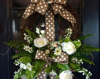 Grspevine Spring Summer Mother's Day Wreath