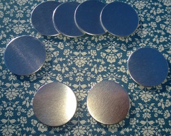 50 - 2 Inch - Aluminum 14 gauge Ga Round Circle Disc Blanks Stamp Blank for Hand Stamping Supplies in