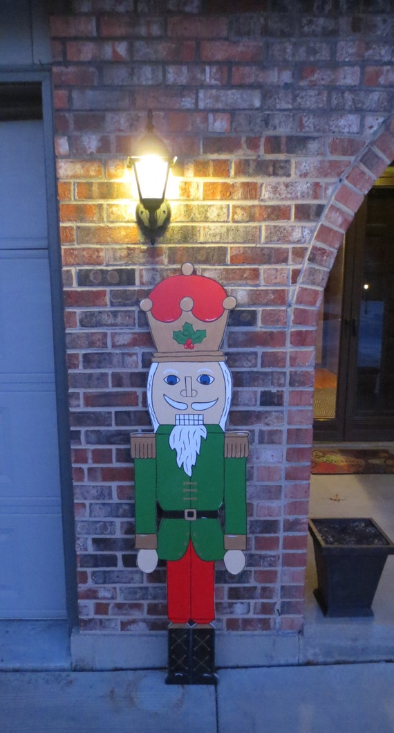 Christmas outdoor nicholas the nutcracker by chartinisyardart for 4 foot nutcracker decoration