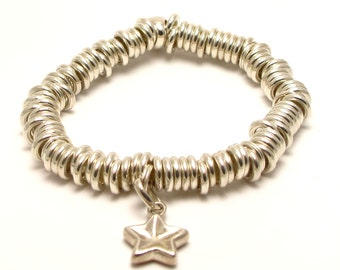 Authentic Vintage Links of London Sweetie Bracelet Sterling Silver with Starfish Charm 56.9g