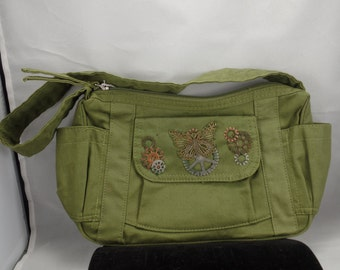 Army Purse w/Geared Butterfly