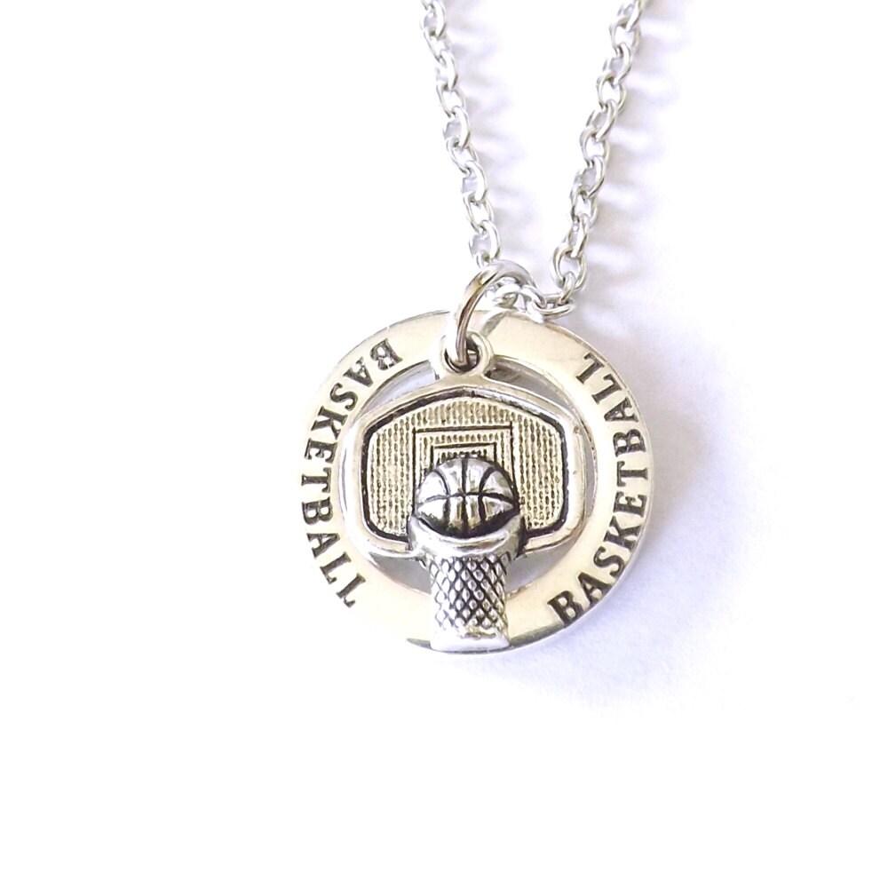 basketball necklace basketball hoop affirmation ring