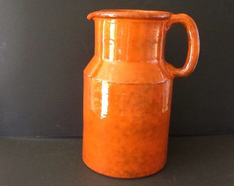 Colorful Orange Pitcher made in Italy
