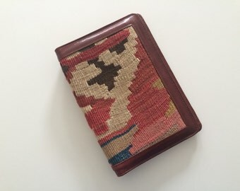 Vintage Kilim Organizer and Notepad Cover