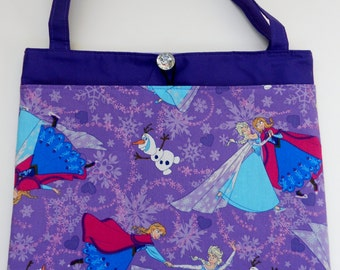 Frozen Elsa Anna Olaf Sisters Tote Bag Trick or Treat Bag Easter Basket