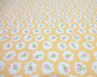 Japanese Fabric YUWA Nostalgic Small Flower Yellow  Fat Quarter