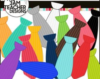 Striped Ties Clip Art Set