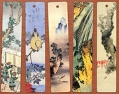 Hokusai Environments and Animals DIGITAL Printable Bookmarks Set of 10.