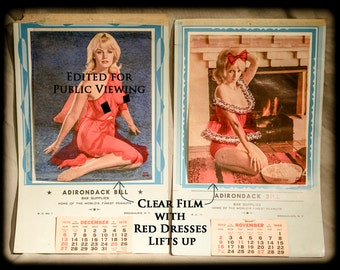 "Adirondack Bill ""Undressable"" Pin Up Girl Calendars, 1970 & 1969"