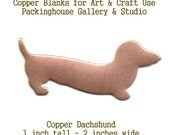Copper Enamel Dachshund Dog Blank metal cut out made of copper for metal working, enameling and jewerly making