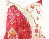 Pillow Covers ANY SIZE Decorative Pillow Cover Designer Pillow Red Pillow Orange Pillow Richloom Aubusson Blend Coral