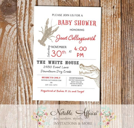 baby shower bridal shower invitation choose your wording and font