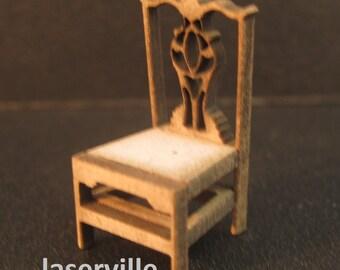 Dollshouse miniature Victorian chair ( quarter scale or 1/48)
