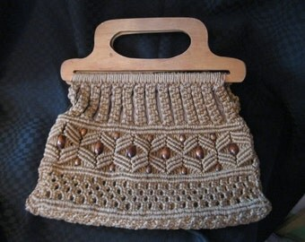 Macrame bag 1960-1970