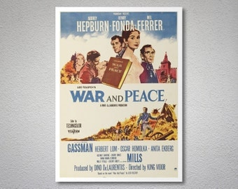 War and Peace Movie Poster - Poster Paper, Sticker or Canvas Print / Gift Idea