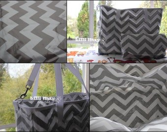 TOTE/NAPPY/DIAPER Bag // Deluxe Version // Water Resistant both on the inside and the outside
