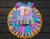 Girls Eva Twirl Skirt Set - PDF Sewing Pattern Sizes 12m - 12  Instant Download Printable Pattern