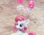 My Little Pony  Chunky Bubblegum Necklace, Girls Chunky Necklace, Chunky Toddler Necklace, Bubble Gum Necklace