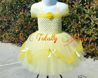 Belle inspired tutu dress/Beauty and the Beast/Princess tutu dress/girl tutu dress/baby girl tutu dress/Halloween tutu/costume/photo prop