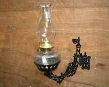 Popular items for oil lamp holder on etsy for Wooden kerosene lamp holder