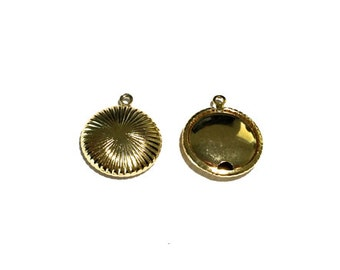 4  Gold Metal Bead, Gold Plate, 20mm
