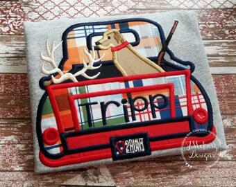 Hunting Vintage Truck Custom Tee Shirt - Customizable 36
