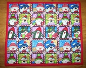 Set of 4 - CHRISTMAS CHARACTERS Placemats - 12 in x 17 in