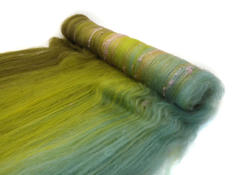 Textured spinning batts merino wool sparkle felting for Fiber batt