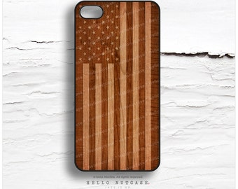 iPhone 6S case, iPhone 5C Case Wood Print, iPhone 5s American Flag, iPhone 6 Case, Geometric iPhone Case, Flag iPhone 6S Plus Cover T124