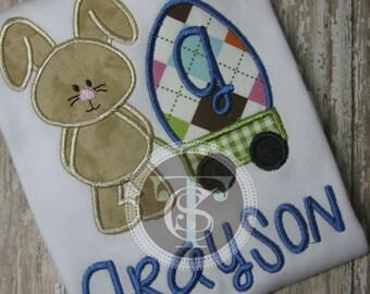 Easter Bunny Shirt for Boys - Easter Shirt - Easter Bunny - Boys Easter Shirt - Boys Bunny Wagon - Easter Bunny Shirt