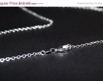 Sterling Silver Chain - 30 inch necklace - Solid Sterling Silver Necklace  - You Select Size - 16 18 20 22 24 26 28 30 inch -
