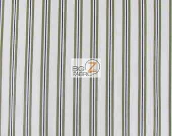 "100% Cotton Fabric By Robert Kaufman - Regency Square Green Stripes-  45"" Wide By The Yard (FH-1503)"
