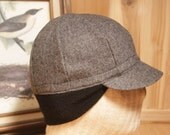 Cycling Cap, Wool, Earflap, 8 Panel, Size sm/med