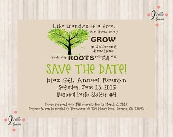 Save The Date Flyer - Family Reunion - PRINTABLE DIGITAL INVITATION