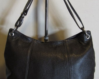 Gorgeous brown leather shoulder bag, Italy, vg condition!
