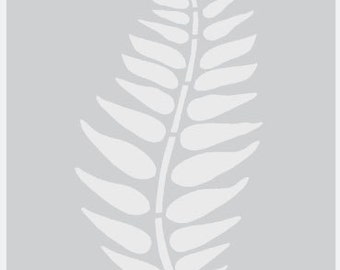 Fern leaf stencil, leaf stencil, large wall stencils, decorative wall stencils, stencils, wall stencils, paint any surface,