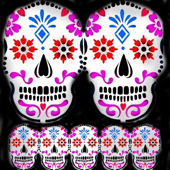 Sugar Skull Stencil Home Decorating stencil by IdealStencils