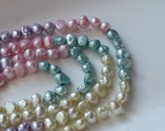 "1-15.5"" Strand Multi Colored Freshwater Pearls 4mm (97 Beads)"