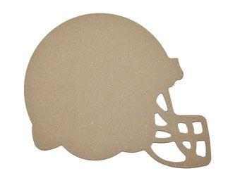 "Football Helmet Cut Out Unfinished Wood MDF Part#  MFBH12  9 x 12""inch"