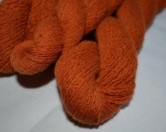 Pure Cashmere Reclaimed Yarn - Rust Orange
