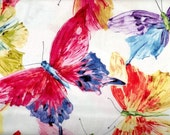 Butterfly Effect fabric - large butterflies watercolor -  MIchele D'Amore for Benartex - by the YARD