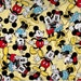 Mickey and Minnie Mouse Togetherness fabric -  Yellow with retro figures - by the continuous YARD