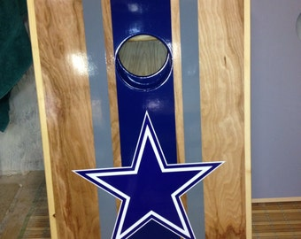 Dallas cowboysTailgate cornhole game