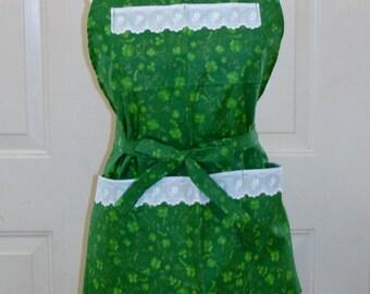 4 Leaf Clover St. Patrick's Day Bib Apron