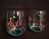 Underwater Wine Glasses