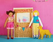 Happytown Play Set - Ruthie and Kate Have A Lemonade Stand  - PDF doll patterns